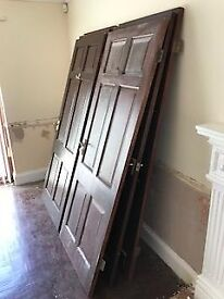 """10 Used Internal Hardwood Doors 2'9"""" with handles and hinges"""