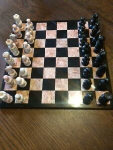 Onyx and Marble Chess Set