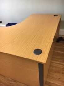 Office corner desk 2 available with 3 draw cabinet