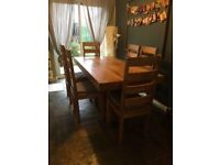 Rustic Dinning Table with 6 Chairs
