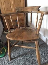 Old Pine Carver Chair