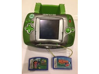 Leap Frog LEAPSTER learning game console + games