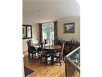 Rosewood Dining Table, 6 chairs and sideboard