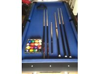 BCE Black Cat American Pool Table + Accessories
