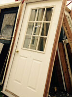 """White 36"""" Door with frame"""