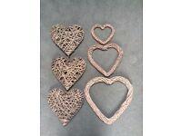 Wicker Hearts, great for weddings