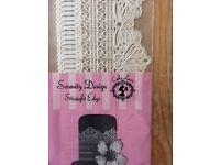 Scallop Edge Serenity Design - Readymade Cake Lace