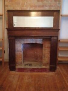 Red Oak Fireplace Mantle for sale