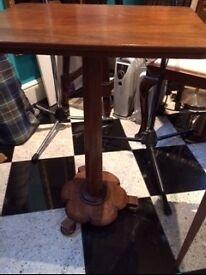 Hardwood Victorian Antique Tilt-top side table £45