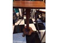 Hardwood Victorian Antique Tilt-top side table