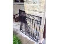 Old heavy metal gate 3' x3' in need of kurust and painting but lots of character