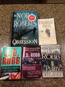 5 books for $5.00 - Nora Roberts, J.D. Robb, Danielle Steele