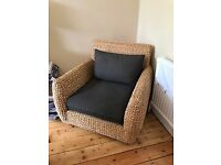 Square Wicker Armchair