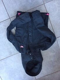 Ladies navy blue Hollister winter jacket. Size small