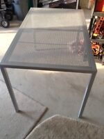 2 steel tables heavy duty in grey color like new