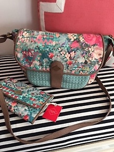 Oilily Mint green and brown Crossbody Bag - Women's Purse