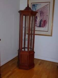 pagoda style mahogany display cabinet Bondi Eastern Suburbs Preview
