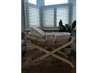 Moses Basket with Mothercare Stand & Mattress