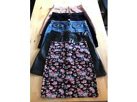 5 SKIRTS - SIZE 8 - BOO HOO, PRIMARK AND GIRLS EXPRESS - GREAT CONDITION