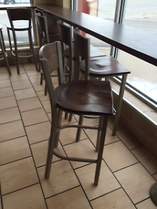 20 chairs and 4 bar stools