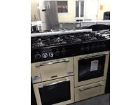 dual fuel range cooker 100cm new/graded 12 months guarantee £650