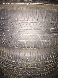 195/60/R14 ALL SEASON ALMOST NEW TIRES WITH RIMS - SET OF 4