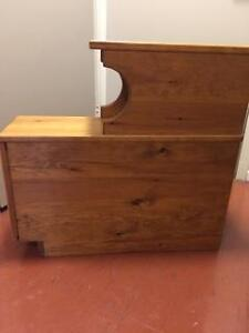 Home made pine bedside tables