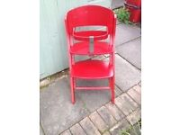 Baby High Chair ( Red)