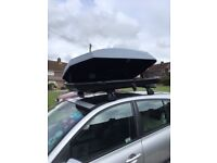 Renault Roof Box, roof bars, fixings and foot pack