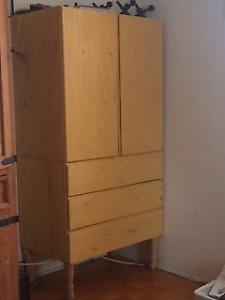 Storage cupboard- 2 shelves, 3 drawers