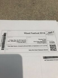 Wood Festival Tickets