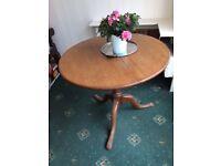 Light oak folding table