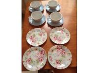Gorgeous Cath Kidston Tea Cups/Saucers and dessert plates