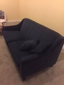 Blue velvet sofa from Made. Excellent condition