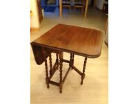 """Lovely Dropleaf table, twisted gatelegs, good condition, when leaves are out, it measures 36"""" x 24"""""""