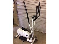 Dual action exercise machine with adjustable tension control