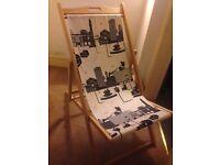 Deckchair with Birmingham City Scape design