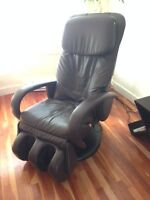 massage chair (human touch) exceptional w/ leg massager leather