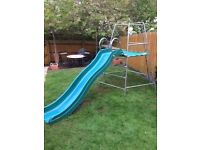 EXPLORER2 CLIMBING FRAME WITH PLATFORM, JUNGLE RUN AND SLIDE - SOLD