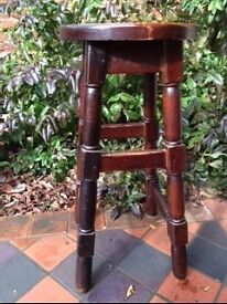 Bar stool solid mahogany