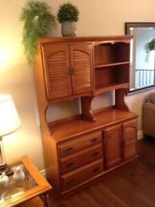 Roxton Solid Maple Dining Room Hutch