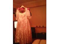 Medium large silk wedding dress 5 pound