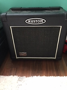 Kustom guitar amplifier with build-in overdrive.
