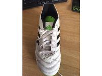 boys adidas football white boots size 2 worn twice