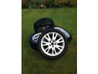 225/45R17 94V Snow tyres with Alloy rims