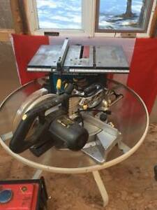 Table saw and mitter saw