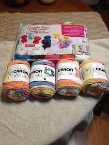 Cotton Wool and Caron Cakes