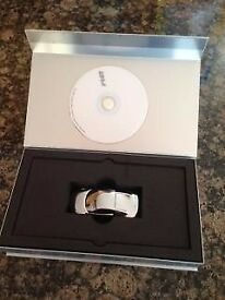 Audi R8 Chrome Model Car Paperweight in box with cd info disc limited edition