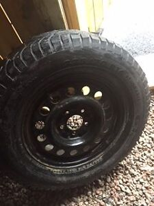 """Set of 4 Winter Wheels (16"""") with used tires"""