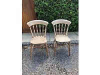 Pine kitchen chairs ready to use or upcycle